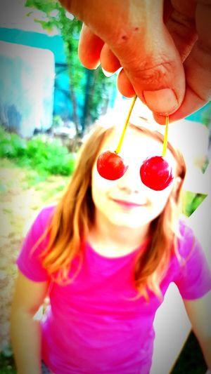 Close-up of girl holding ice cream