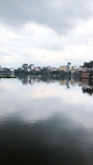Hanoi Vietnam Hanoi Water Sky Cloud - Sky Architecture Built Structure Reflection City Nature Waterfront