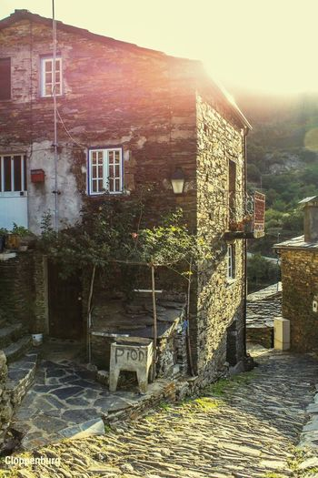 Going back in time. Vilage In The Mountains Xisto Contry Living Contryside Architecture Built Structure Building Exterior Building Nature No People Day House Sunlight Outdoors Street Old City