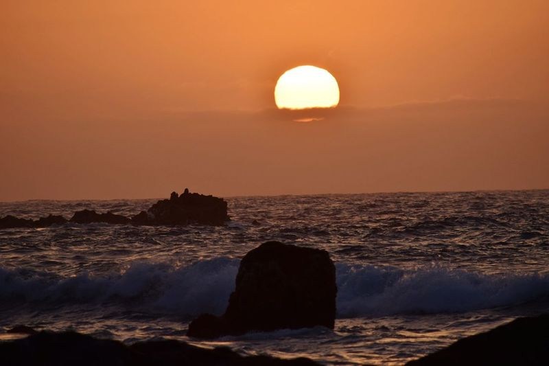 Ocean Sunset Sea Sun Orange Color Beauty In Nature Nature Landscape Tranquility Sunlight Outdoors No People Travel Travel Destinations Sky Water Horizon Over Water Eye4photography  Nature_collection Nature SPAIN Tenerife Tenerife Island Sunset_collection Sunsetporn