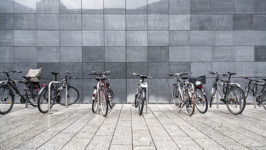 Bicycles on footpath