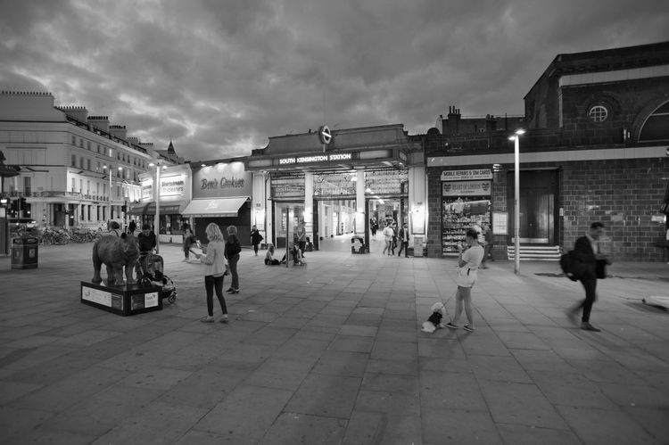 The Station Great Britain Kensington London Architecture City Crowd Evening Monochrome People Street Streetphotography Tube Station