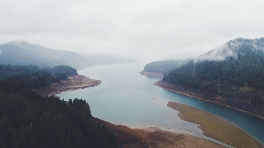 Northwest Washington Oregon Aerial View Aerial Shot DJI X Eyeem Water Trees Fog Water Mountain No People Nature Lake Travel Destinations Scenics Beauty In Nature Outdoors Landscape