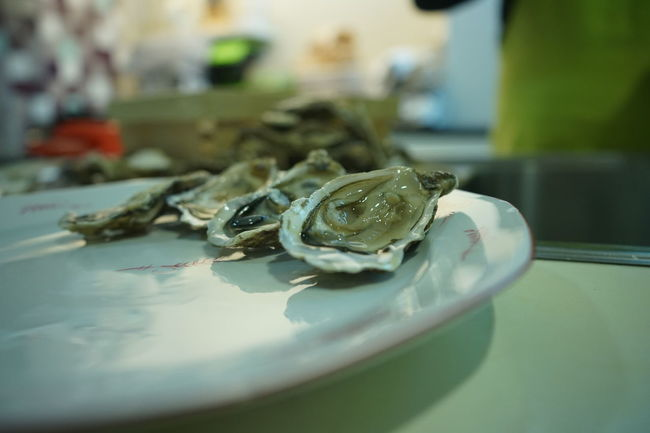 family dinner time, enjoying oysters Amuse Bouche Dinner Xmas Close-up Day Food Food And Drink Food Photography Freshness Indoors  No People Plate Seafood Table Xmas Time