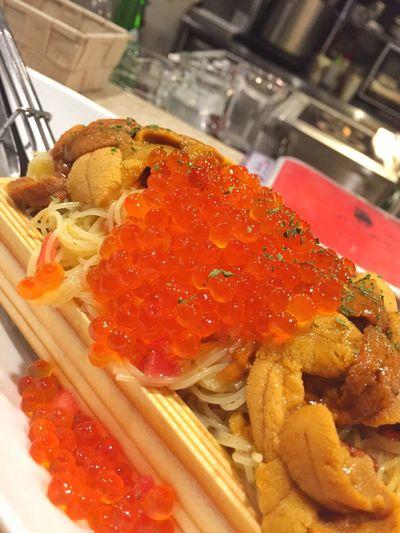 Dinner Bistro Eating Drinking Pasta Urchin Salmonroe うに いくら 冷製パスタ カッペリーニ Yummy Enjoying Life
