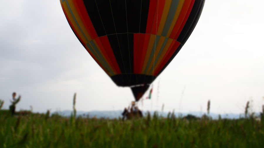 Cloudy Colours Exploring High Transportation Travel Trip Above Adventure Balloon High Angle View Hot Air Balloon Multi Colored Oldtransportation Rising Sky Viewfromabove