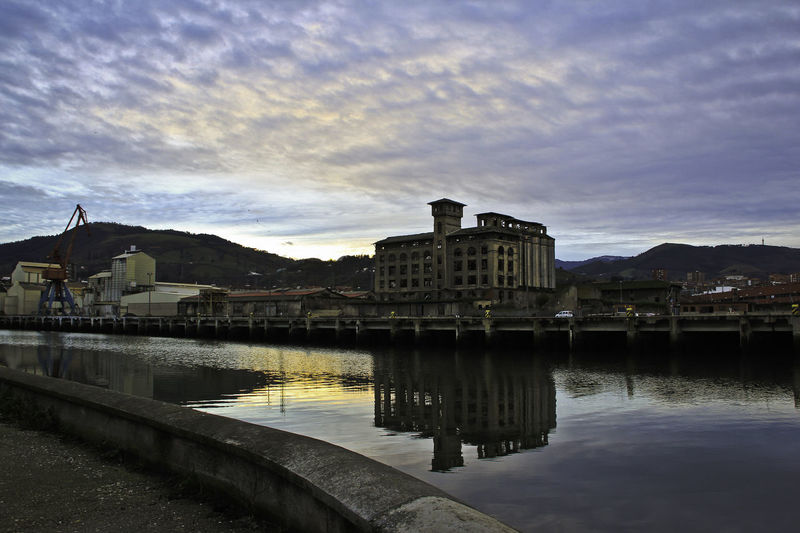 Architecture Bilbao Check This Out City Clouds Crane Day Decay Industrial Industrial Landscapes Industrial Skyline Mountains Pier Reflection Relaxing Travel Destinations Water Waterfront Abandoned Warehouse River