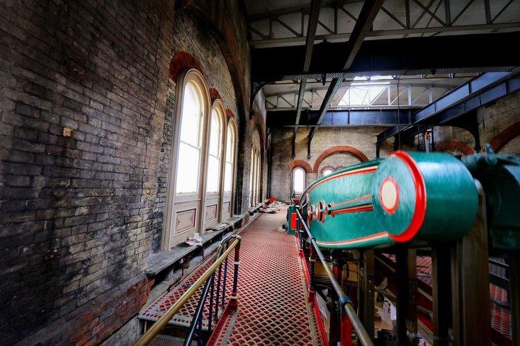 Crossness Pumping Station Architecture Wall Indoors  Brick Brick Wall Built Structure Day