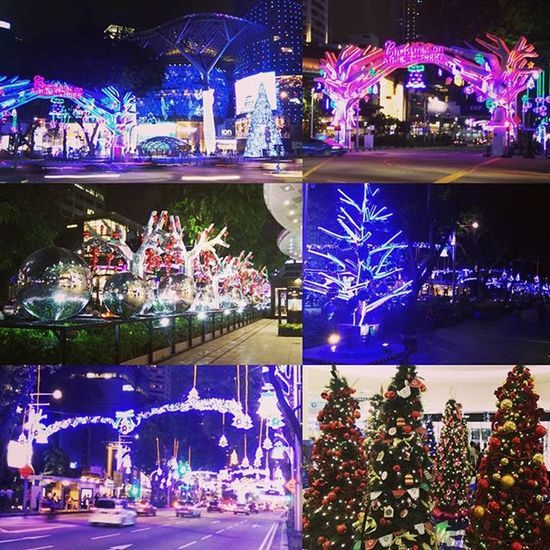 Christmas arrives in Singapore MerryChristmas OrchardRoad Santaclause Xmas Christmastree Decorations Crewlife Layover