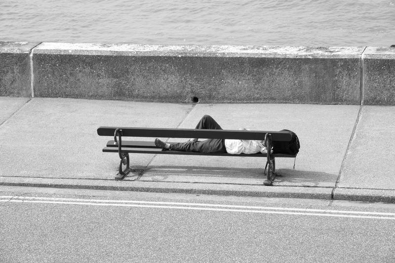 Asleep on the Bench Asleep Asleep In The Street Asleep On A Bench Bench Sleeping Man Sleep Sleepy Tired Lying Down Lying On Back Lying Flat Relax Relaxing Moments Relaxing Relaxing Time