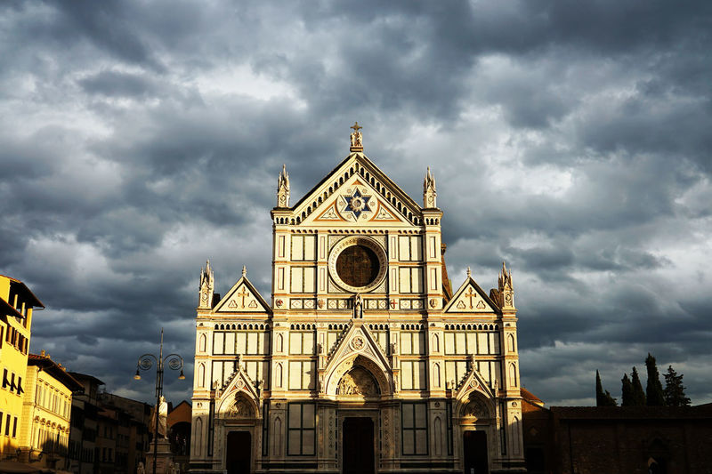 Santa Croce Cathedral Travel Photography Architecture Building Exterior Built Structure Cloud - Sky Day History Italy🇮🇹 Low Angle View Outdoors Place Of Worship Religion Sky Storm Cloud With Wife
