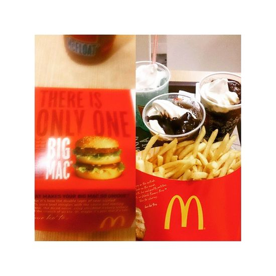 BarkadaMeal pero dalawa lang kame. Hahaha! Bigmäc Frenchfries Cokefloat Mcdo HappyKiddo Foodie
