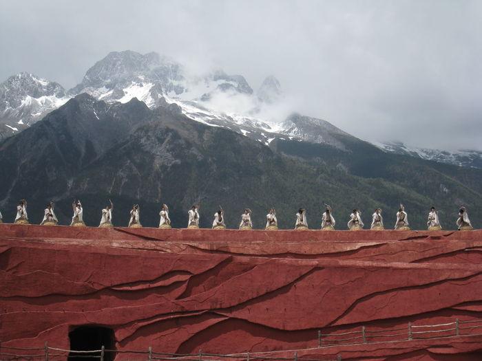 Mountain Travel Destinations Cloudy Sky Shangrila Mountain Range Happy China Show Impression