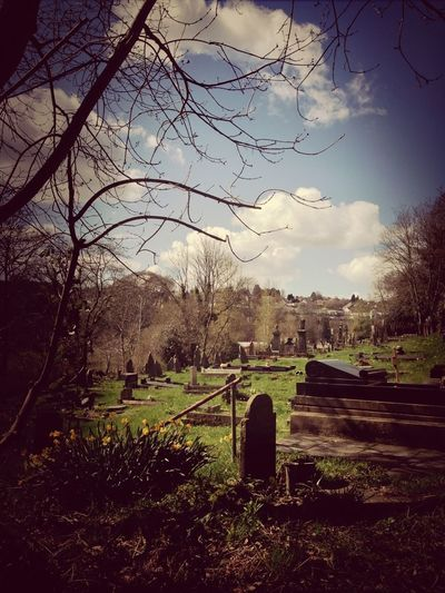 Church Grave Cloud Sky