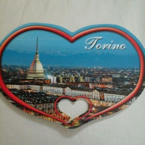 E poi arriva lei... Cartolina Torino Moleantonelliana Italia <3