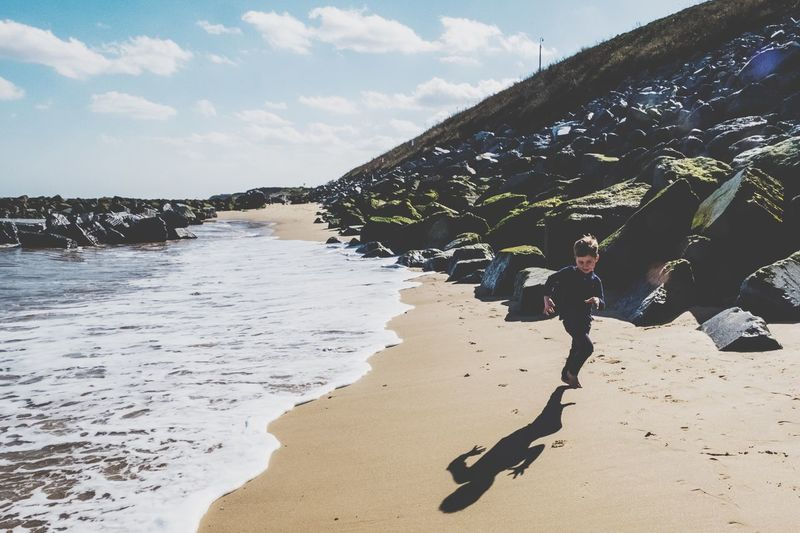 Hopton Great Yarmouth Beach Land Water Nature Sunlight Sky Day Sand Sea Cloud - Sky Real People Shadow Lifestyles Outdoors Leisure Activity Beauty In Nature Plant People Tranquility The Great Outdoors - 2019 EyeEm Awards