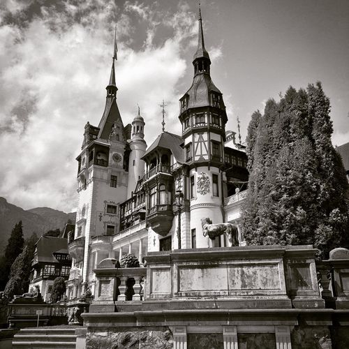 Peles Castle Peles Politics And Government City Sky Architecture Building Exterior Cathedral Pagoda Palace Sculpture Statue Sculpted The Architect - 2018 EyeEm Awards