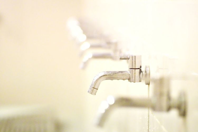 Faucets in row