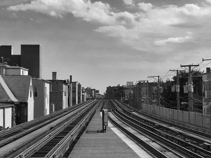 View of railway station platform