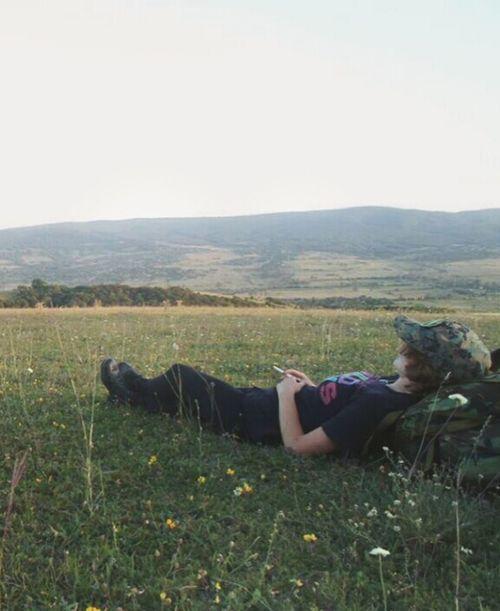 Relaxing Smoking Hiking Sionilake