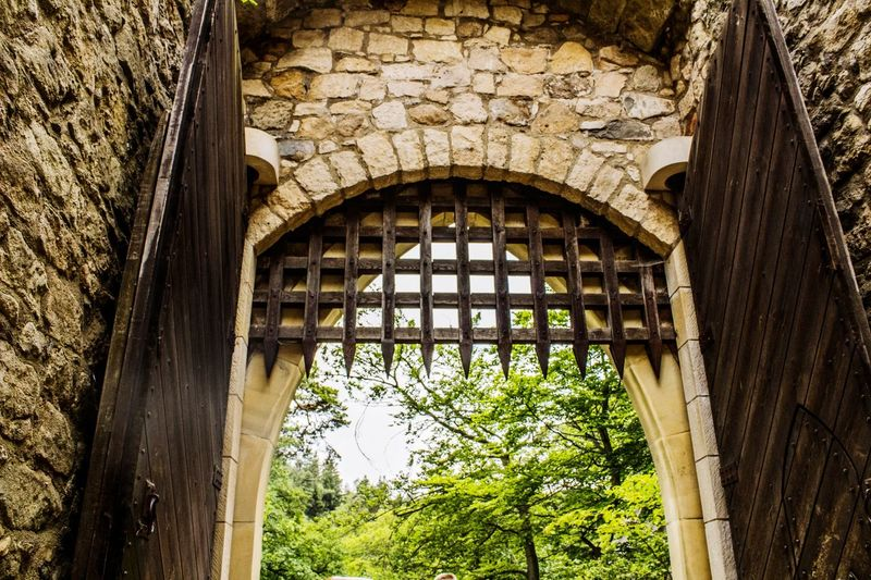 Open castle gate EyeEmNewHere Built Structure Outdoors Window No People Architecture Nature Castle Castles Castle Gate Gate Door Castle Door Ruin History Historic