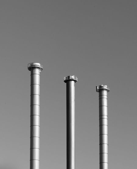 3 in a row City Alloy Architecture Black And White Blackandwhite Bnw Bnw_friday_eyeemchallenge Built Structure Close-up Copy Space Day Development Fabric Factory Industry Low Angle View Metal Minimalism No People Side By Side Silver Colored Simplicity Smoke Stack Steel Studio Shot My Best Photo The Minimalist - 2019 EyeEm Awards The Architect - 2019 EyeEm Awards