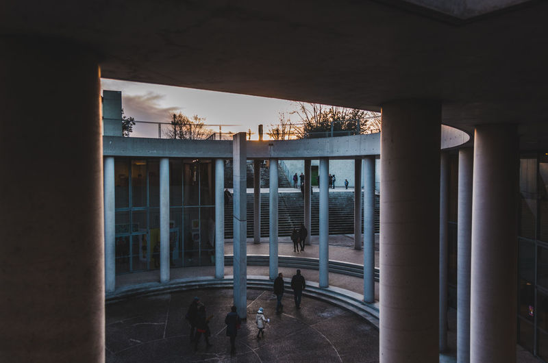 Light Architectural Column Architecture Building Building Exterior Built Structure Day Door Empty Entrance Glass - Material Light And Shadow Nature No People Outdoors Reflection Shadows Sunset Transparent Water Window