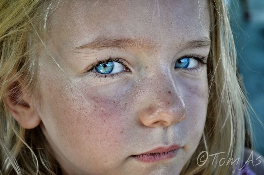 Human Face One Girl Only Blue Eyes People Close-up Portrait Blond Hair Beauty One Person Childhood Bad Mood Beautiful Doughter EyeEmNewHere