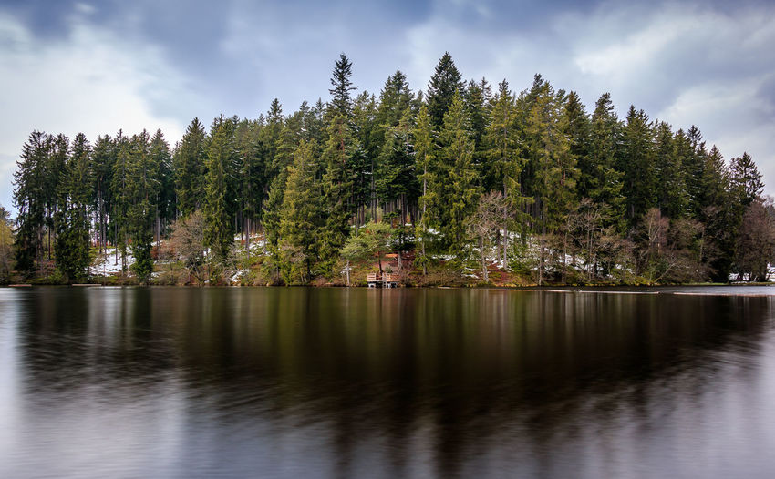 Der Schlüchtsee bei Grafenhausen Beauty In Nature Cloud - Sky Day Lake Langzeitbelichtung Long Exposure Nature No People Outdoors Reflection Scenics Sky Tranquil Scene Tranquility Tree Water Waterfront
