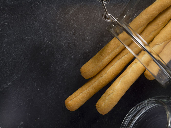 Close-up of breadsticks