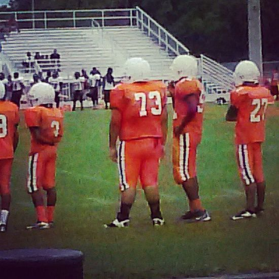 Baby bro's 1st game!!! Let's go Vinny, let's go!!!! DunbarTigers 73 ACOSTA DefensiveTackle