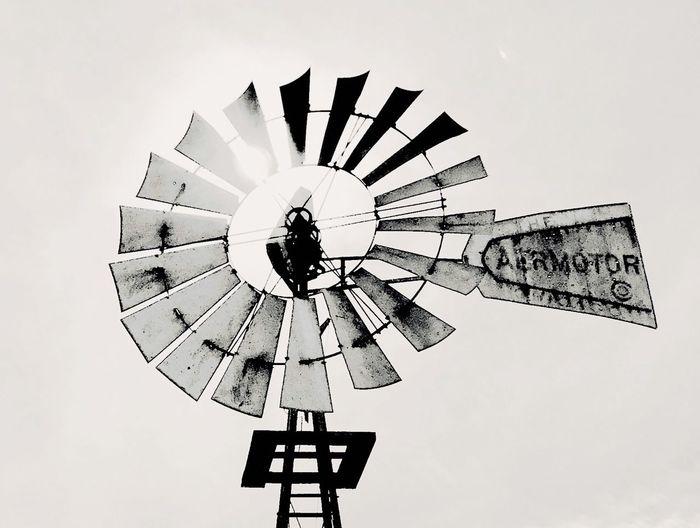 Motor Mill Blackandwhite Aermotor Sky No People Day Outdoors EyeEmNewHere