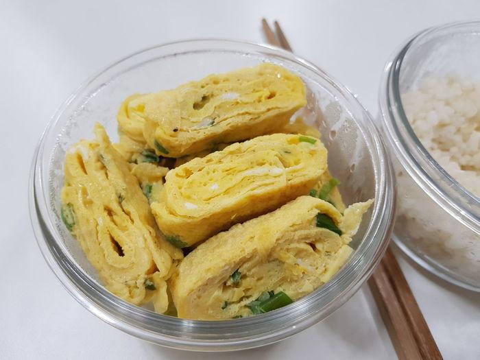 계란말이 Tamagoyaki Rolled Omelet Korean Food Gyeranmari Korea Food EyeEm Selects Close-up