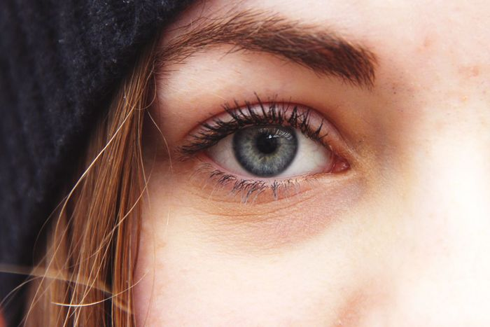imperfections Human Eye Close-up Looking At Camera Eyelash Staring Eyesight Eyebrow Human Face Eyeball Extreme Close-up Young Adult Human Skin Person Full Frame Blue Grey Blue Gray Blue Eyes Pale Skin Beanie The Portraitist - 2017 EyeEm Awards