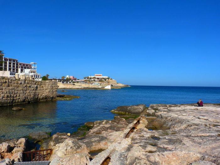 Malta Paceville Rock Beach Mediterranean  Mediterranean Sea Beach Rocks Rocks And Water Rocks And Sea Water Sea Nature Sky Clear Sky Land No People Day