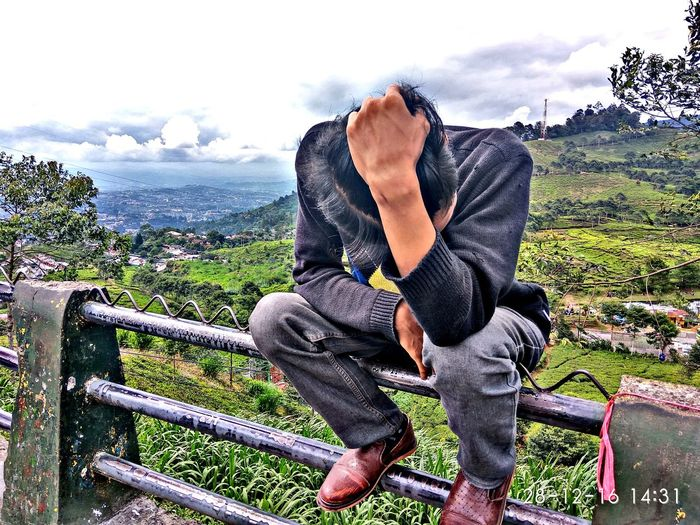 """""""When you feel so down .."""" First Eyeem Photo INDONESIA Bogor Mountain Photography Explore Exploreindonesia Adventure Forrest Nature Outdoors Day Tree Sky"""