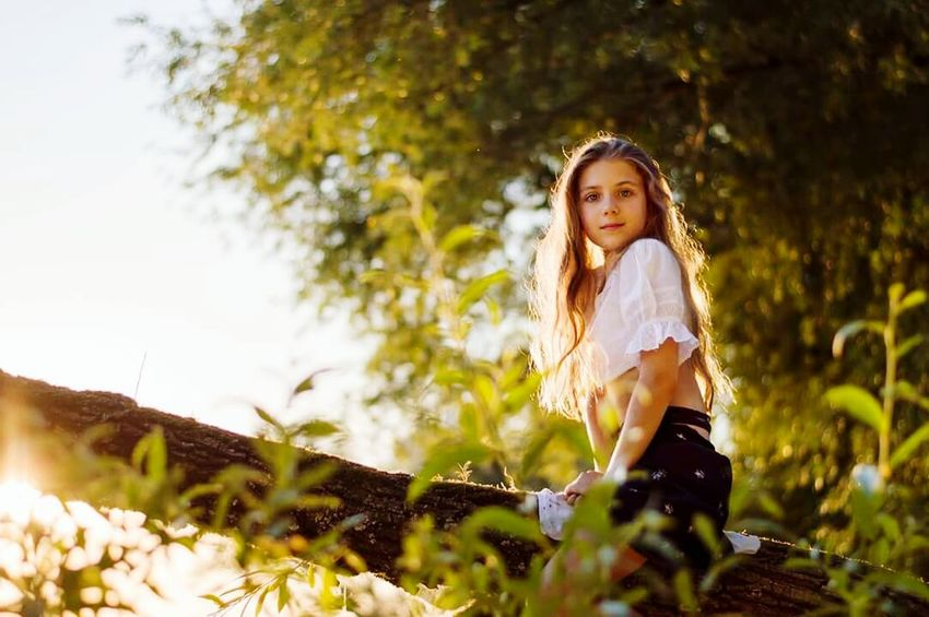 Long Hair Nature Beauty Outdoors Summer Child Beautiful People Portrait Blond Hair Beauty In Nature