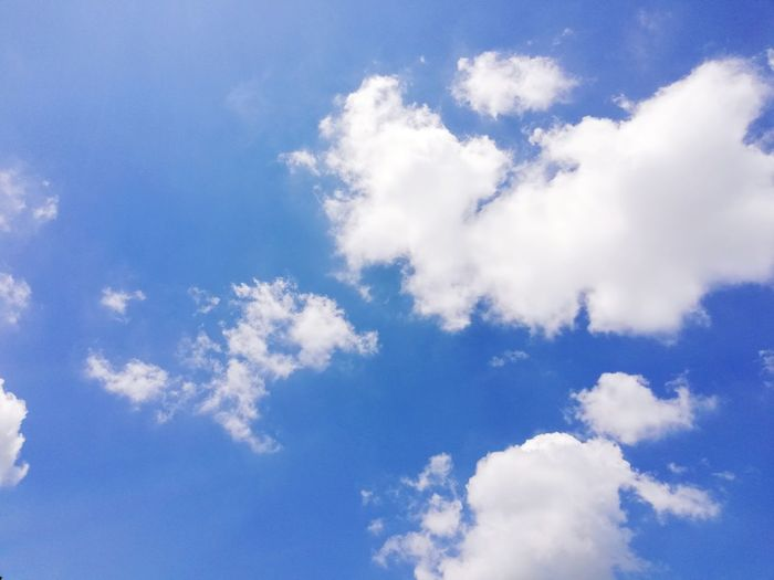 Clouds and blue sky background. Background Blue Blue Pattern Sky Close-up Cloud - Sky Sky Only Cumulus Wispy Infinity Cumulus Cloud Fluffy Meteorology Cloudscape Cirrus Stratosphere Constellation Starry Star Field Emission Nebula Cumulonimbus Plane Heaven