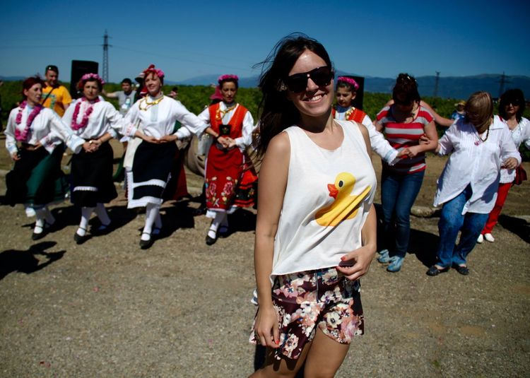 Bulgaria Day Festive Of R Fun Group Of People Kazanlak Outdoors People Portrait Smiling Sunglasses Traditional Clothing Traditional Costume Traditional Culture Traditional Dance Traditional Festival Young Women