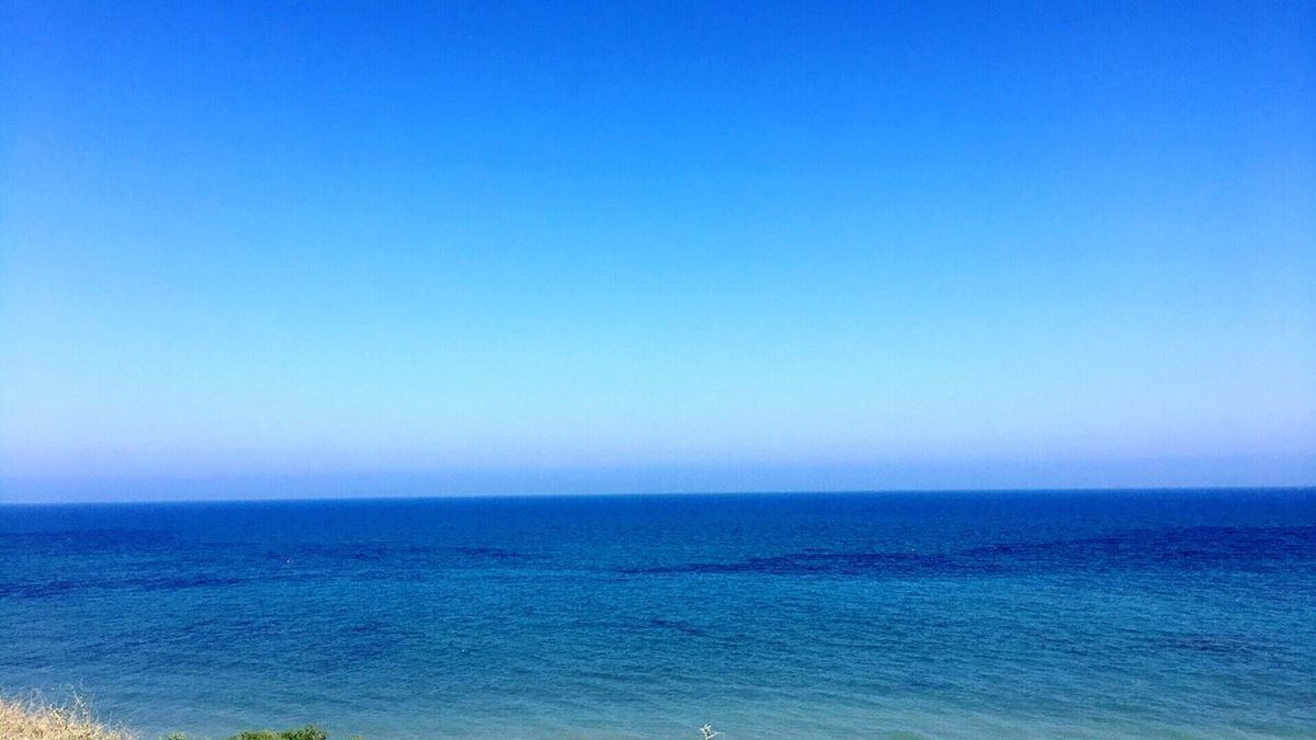 Where The Sea Meets The Sky 😍🌤🌊🛳 Sunkissed 🌊 Sea Bluer Than Blue Water Horizon Over Water Tranquil Scene Tranquility Clear Sky Idyllic Calmness Summer ☀ Shades Of Blue Art Is Everywhere PhonePhotography Iphone6 Escaping From The Heat