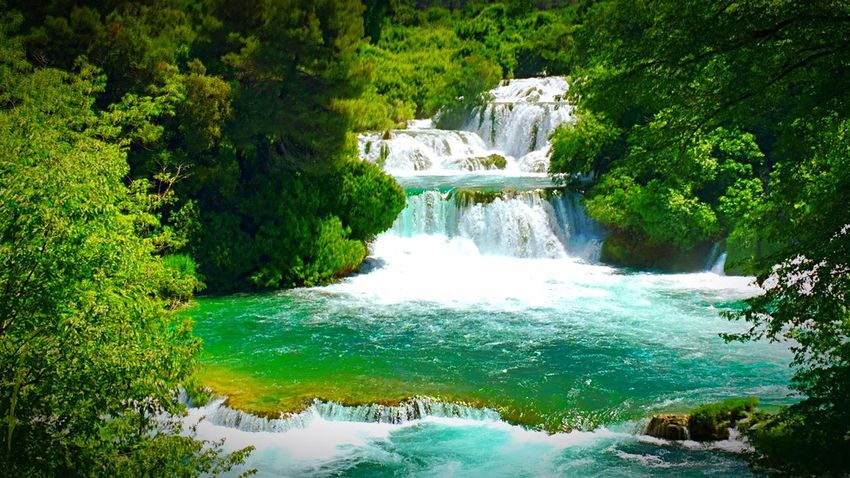 Waterfall of dreams Summer Holiday Naturephotography Water Waterfalls Naturelovers First Eyeem Photo Krka National Park EyeEm Best Shots Today's Hot Look Nature Nature_collection Nature Photography Traveling HDR IPhoneography Krka National Park Croatia Lifeisbeautiful Waterfall_collection Waterfall Dreaming Daydreaming