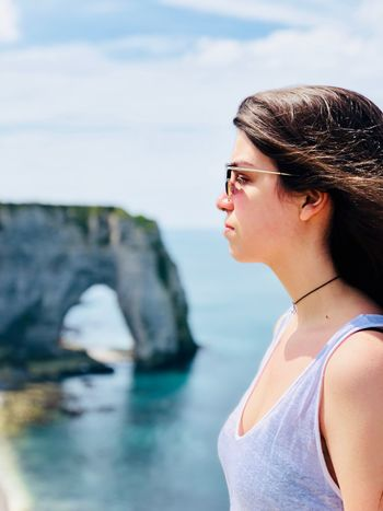 One Person Young Adult Water Focus On Foreground Young Women Real People This Is My Skin Portrait Lifestyles Women Side View Beautiful Woman Nature Standing Sky Day Profile View This Is My Skin