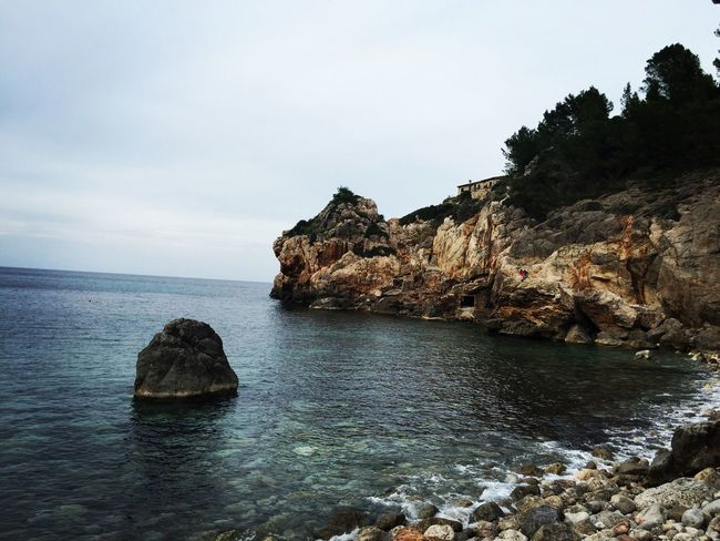 Sea Rock - Object Nature Water Beach Outdoors Beauty In Nature Sky Day Mallorca❤️