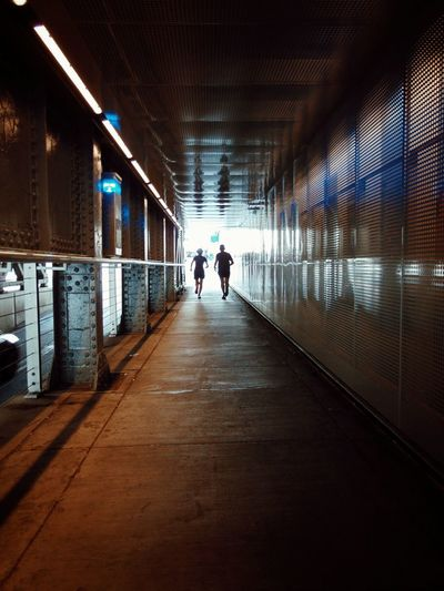 "Ruuuun!!!! .... The only time youll see me run is if someone yells ""Free food!"" ""Fire!"" or ""The free foods on fire!"" ..its important to have values. Underpass Bridge Runners Fitness Lets Go Jogging! Cityscape Backlight Shadows & Lights Metal Structure Steel Abstract Street Photography Urban Scene Light At The End Of The Tunnel Shadows & Light Reflections Concrete Jungle Calgary, Alberta"