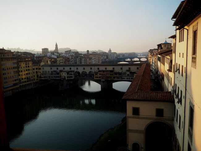 Florentine sunset over the Arno River, ponte vecchio, Architecture Basilic Bridge Buildings Cathedral City Florence Holy Cross Italy Italy4fun No People Outdoors Picoftheday Pitti Pitti Palace Santa Croce Seagulls Sky Sky And Clouds The Medici Family Tuscany Uffizi Uffizi Gallery Vasari Corridor Water