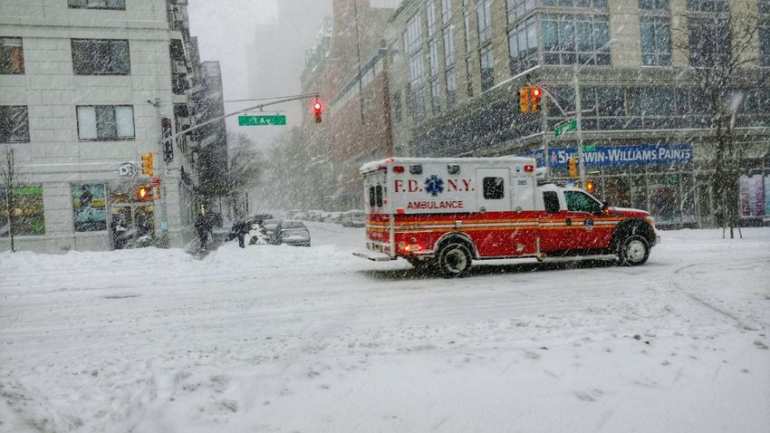 FDNY rolling through Snow Day Blizzard 2016 Stories From The City