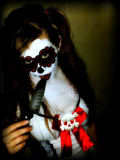 Dark Grunge Grungy Aliceinwonderland Alice In Wonderland EvilAlice Note3 Portrait Knife Blood Portrait Of A Woman Woman Check This Out Taking Photos Model Beautiful Sugarskull