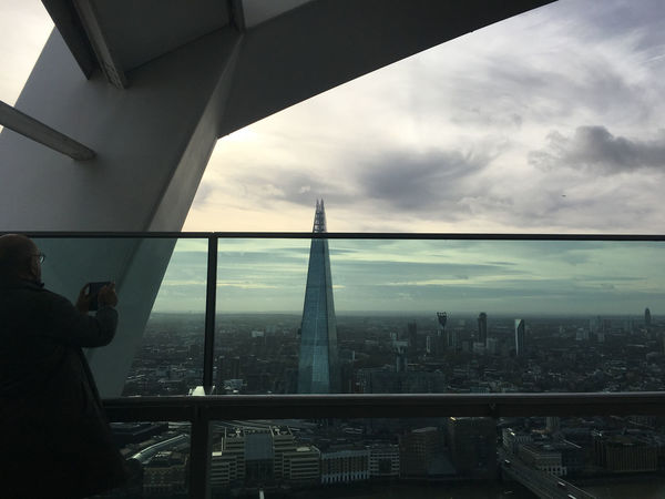 Cloudy Shard Skyscraper