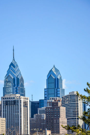 Philadelphia city views Architecture Building Exterior Built Structure Business Finance And Industry City Cityscape Clear Sky Day Modern No People Outdoors Sky Skyscraper