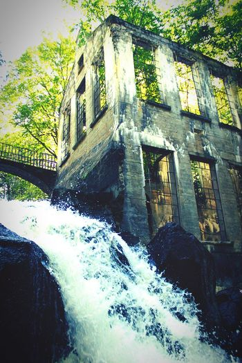 Carbide Wilson Ruins Gatineau Park Canada Architecture Built Structure Water Building Exterior Waterfall Flowing Water Old Damaged Day Outdoors Nature No People Building Ruins Abandoned Places Abandoned Buildings